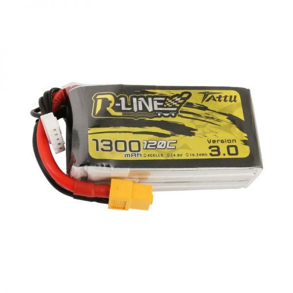 Tattu R-Line Version 3.0 1300mAh 14.8V 120C 4S1P Lipo|