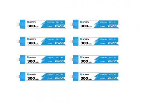BETAFPV BT2.0 300mAh 1S Battery 4.35V 30C/60C FPV Lipo (8db)