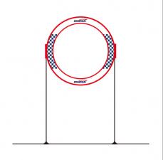 Gemfan Kör Kapu 60cm állvánnyal|Gemfan Round Gate with 60cm stand