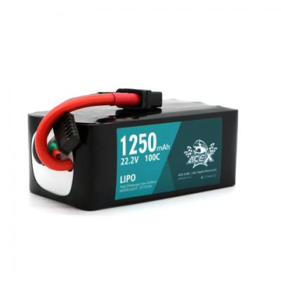 Acehe Ace-X 1250mah 6s 22.2v 100-200c Lipo Akkumlátor