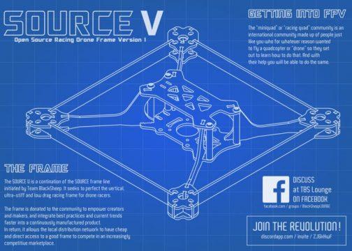 TBS Source V 5 inch verseny váz