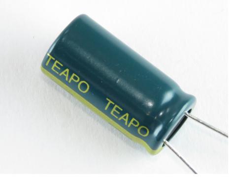 Teapo 450 uF/25V LOW ESR kondenztor