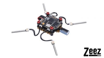 Zeez F7 2-8s FC + 60A Esc + 4 Racing LED Stack